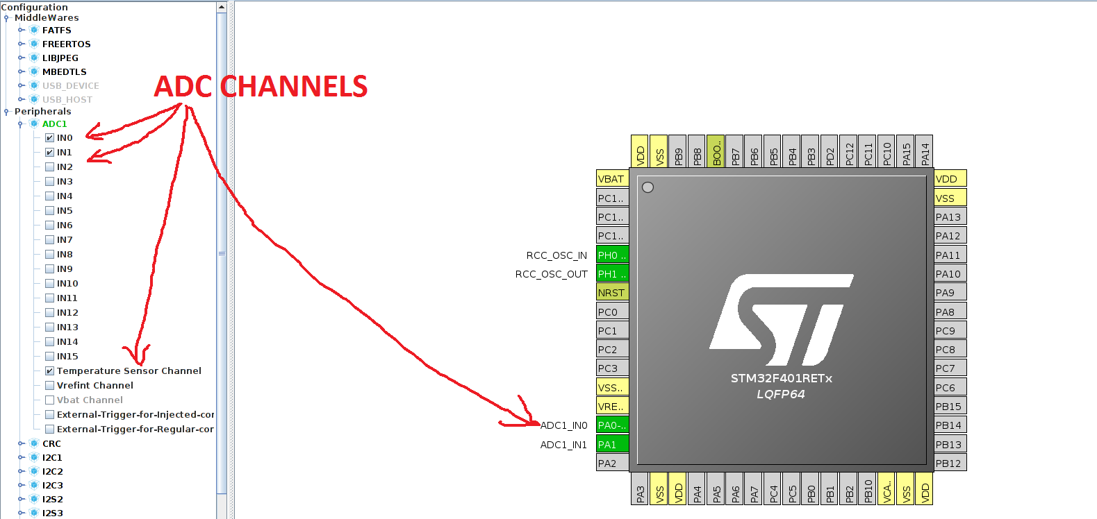 Read multichannel ADC in STM32 - CONTROLLERSTECH