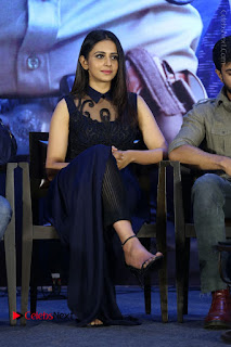 Actress Rakul Preet Singh Stills in Beautiful Blue Long Dress at Dhruva Salute to Audience Event  0074.JPG