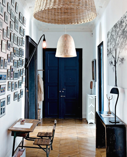 navy blue entry door paint idea
