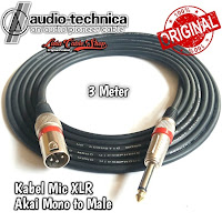 Kabel Mic Audio Akai mono To Male 3 Meter Canon Canare