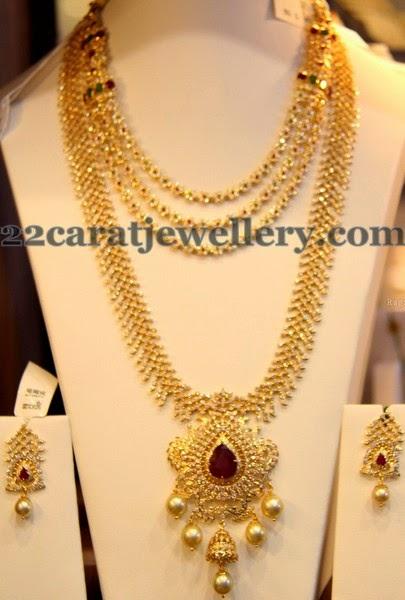 Diamond Haar Simple Layers Necklace Jewellery Designs