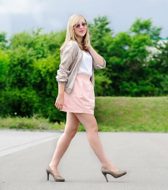 Goldene Bomberjacke Fashionblogger Kaiserslautern Trend 2016 Sommerlook