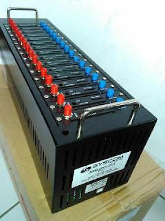 Modempool 16 Port Q2406B USB tombol Biru