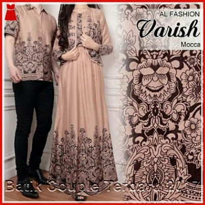 5PTH Jual Batik Couple Paris Three One Coklat Bj3005