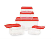 All Time Plastics Polka Container Set 5-Pieces For Rs 49