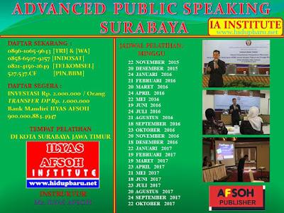 Jadwal Pelatihan Trainer Public Speaking Surabaya