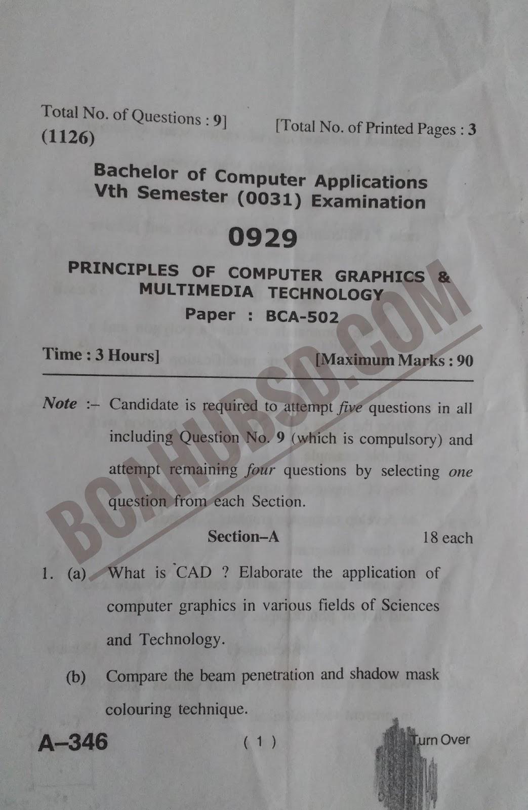 PRINCIPLES OF COMPUTER GRAPHICS & MULTIMEDIA TECHNOLOGY SYLLABUS