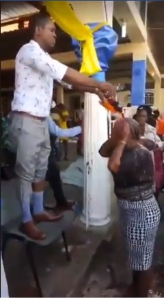 2 - SMH! Watch an African pastor anointing his brainwashed followers with soda, these are shameless fools, NKT!! (VIDEO)