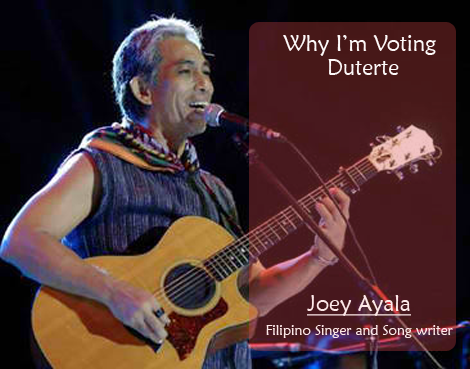 Joey Ayala is Pro-Duterte