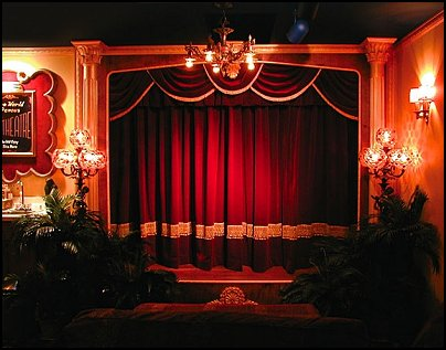 Home Theater Curtains  Movie themed bedrooms - home theater design ideas - Hollywood style decor - movie decor -  Film decor - home cinema decor - movie theater decor - Home Theater Curtains - cabinet knobs movie theater