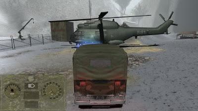 صورة  لتجربة العبة الشاحنات الحرب المشابهة للواقع في جهاز الحاسوب