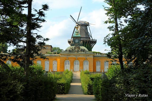 Neue Kammern y Molino, Jardines Sanssouci, Postdam
