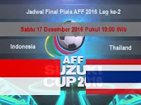 Jadwal Final Piala AFF 2016 Leg Ke 2 Indonesia Vs Thailand