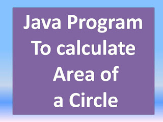 area of a circle in java