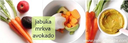 Jabuka, mrkva i avokado za bebe
