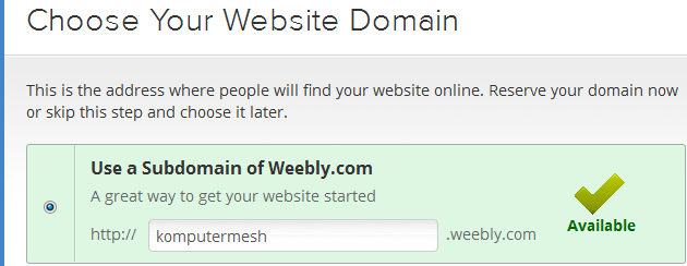 Cara Membuat Website/blog Gratis di Weebly.com