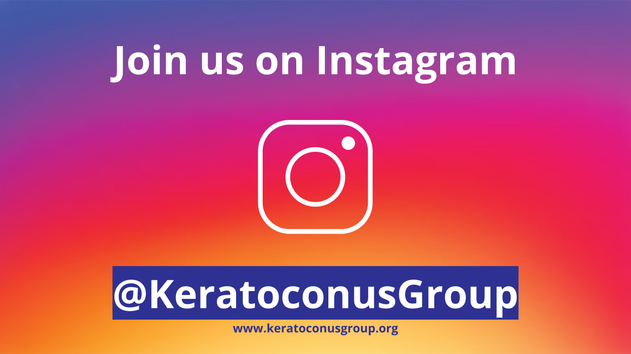 Join our Keratoconus community on Instagram @KeratoconusGroup