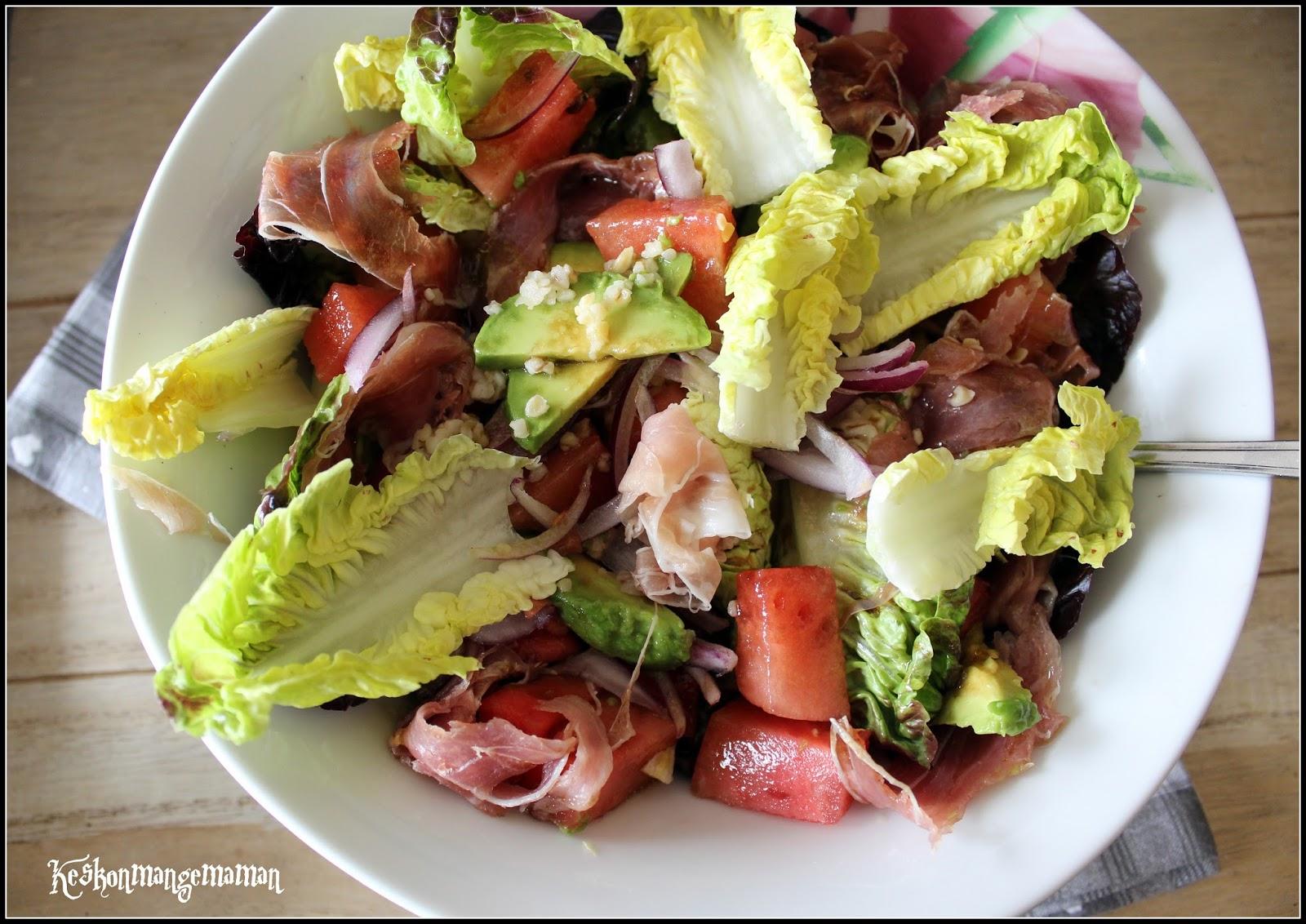 keskonmangemaman salade fraicheur au jambon de parme pour appropriez vous la recette 3. Black Bedroom Furniture Sets. Home Design Ideas