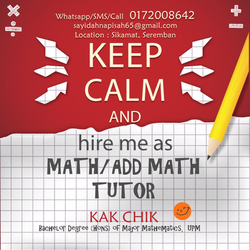 bila ada orang kata - maths is easy
