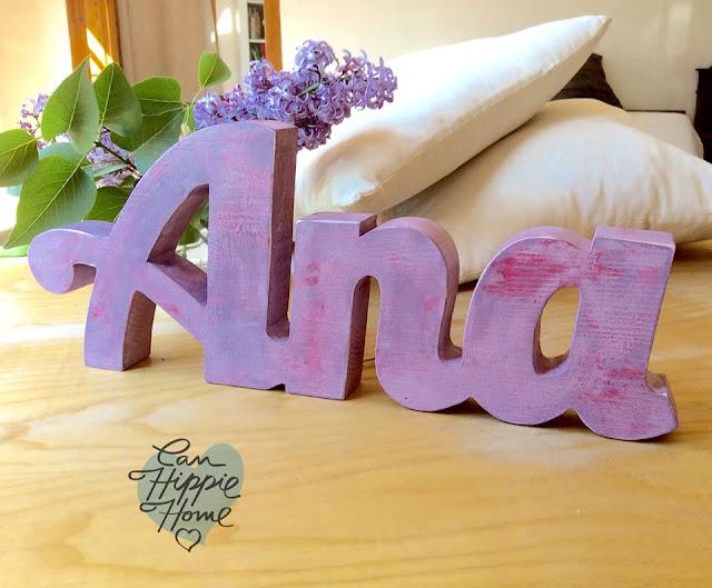 Artesanos de letras de madera: Can Hippie Home-16