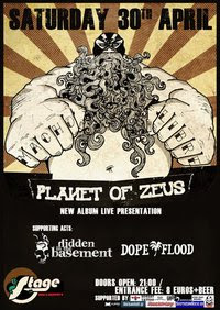 Planet Of Zeus, Hidden In The Basement, Dope Flood @ Larissa, 30/04/11