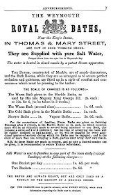 Advert fro Royal Baths 1857