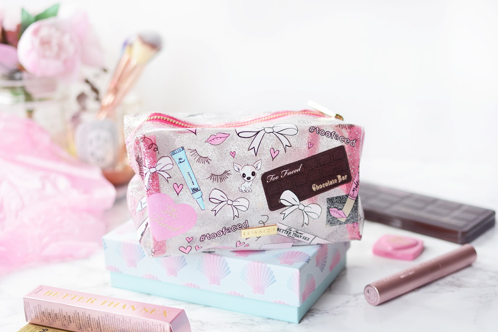skinnydip london too faced make-up bag