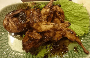 Spicy Quail with Black Pepper Sauce