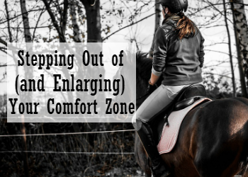 Stepping Out of (and Enlarging) Your Comfort Zone