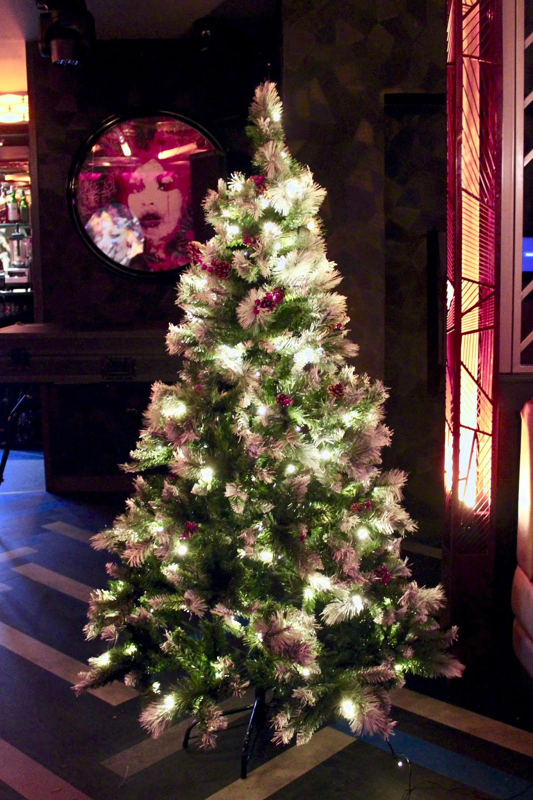 Christmas tree in Dirty Martini