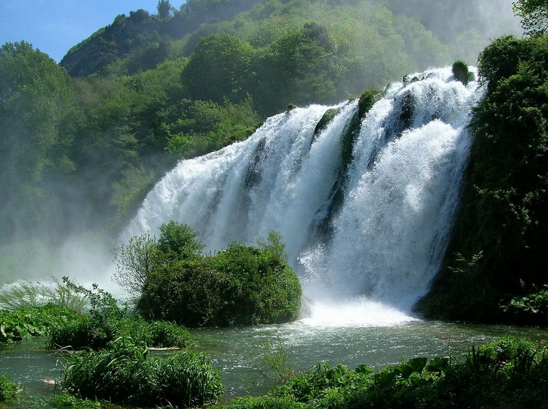Man made Marmore waterfalls, Umbria, Italy