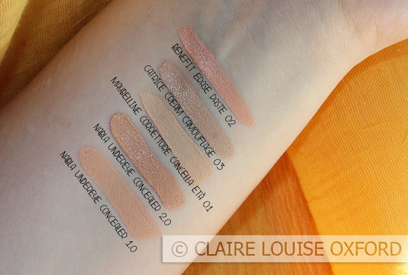 Swatches e confronti dei Correttori Nabla Under Eye Concealer