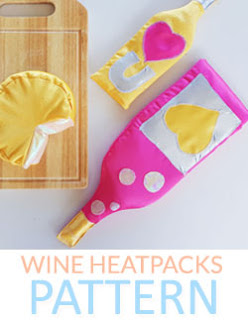 Wine Bottle Shape Heat Pack DIY