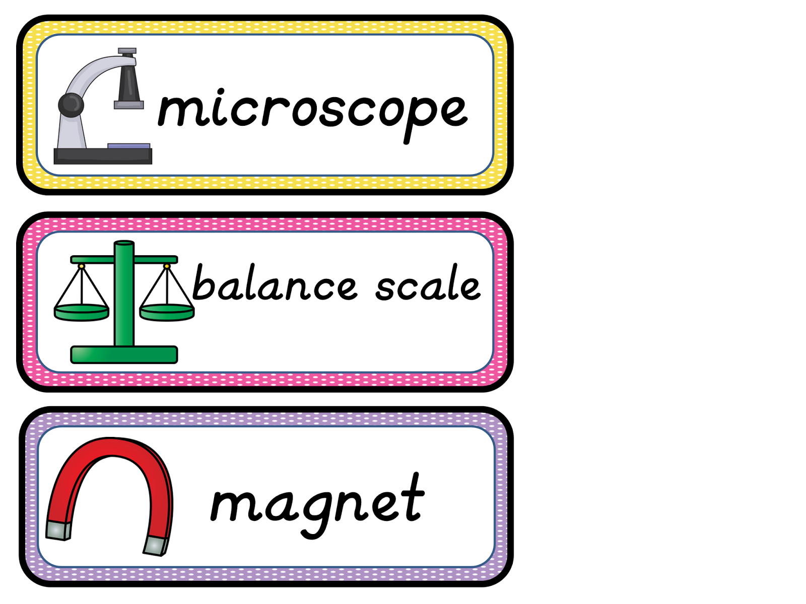 Classroom Freebies Too Scientific Tools Vocabulary Cards