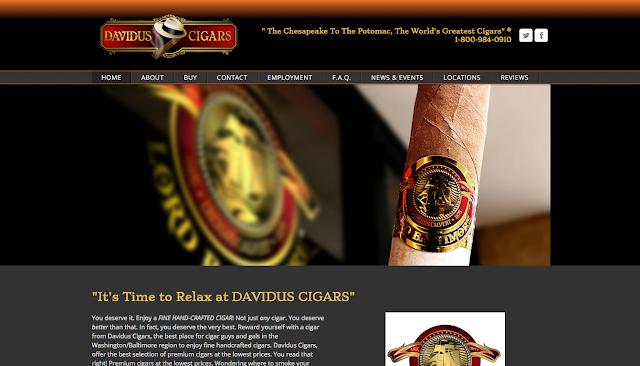 FREDERICK WEB DESIGNER RANDY TUGGLE for DAVIDUS CIGARS