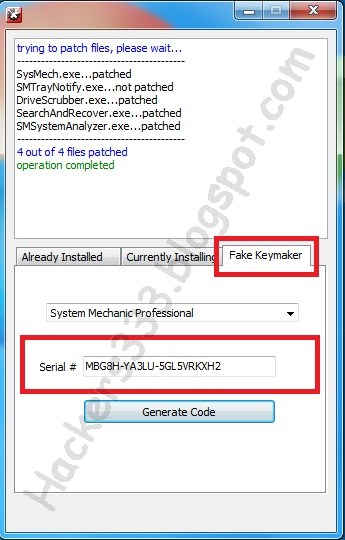 System mechanic free serial key online