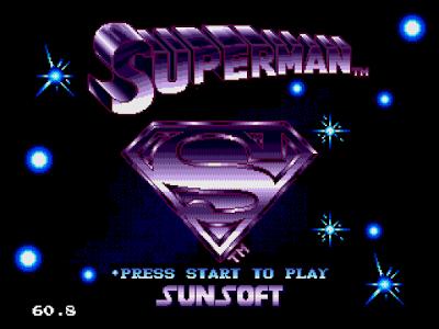 【MD】超人(Superman)美版+Hack無敵版,懷舊動作遊戲!