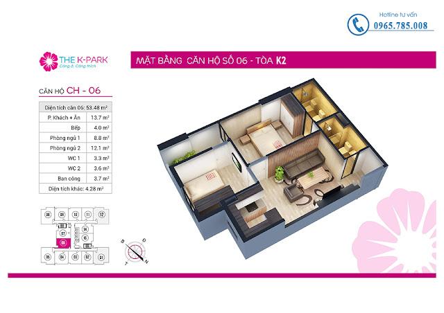 Thiết kế căn hộ 06 tòa k2