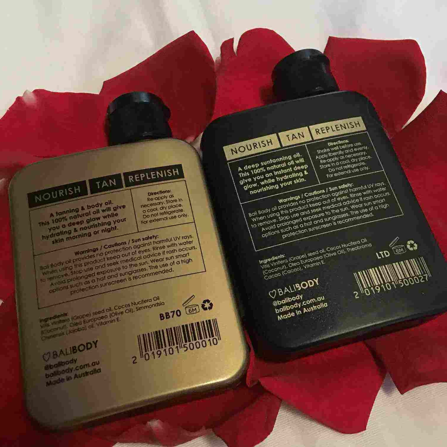 Runnergirl Training Product Review Bali Body Tanning Oils