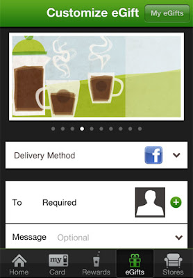 Starbucks app for iPhone