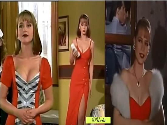 Vestidos com decote e fendas são preferidos de Paola