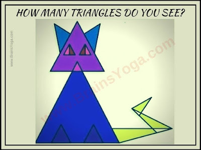 Cat Triangle Counting Picture Puzzle