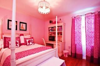 Contoh Desain Kamar Anak Cat Warna Pink