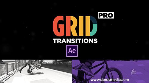 قوالب افتر افكت قالب افترافكت انتقالات مميز للفيديوهات لبرنامج الافترافكت Grid Transitions After Effects