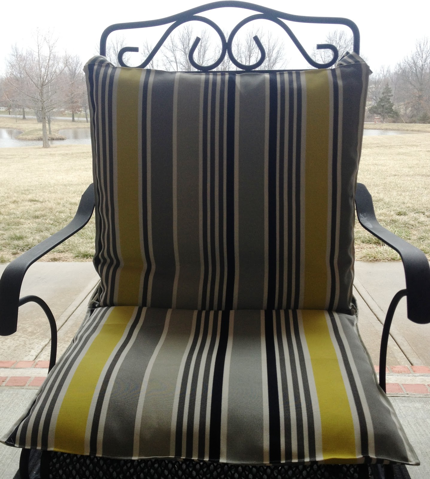recovering lawn chairs brown leather rocker chair carols distinctive creations spring spruce up recover