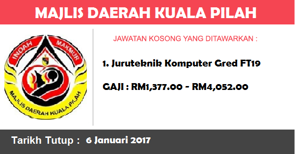 Jawatan Kosong di Majlis Daerah Kuala Pilah