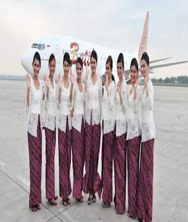 baju batik ala pramugari
