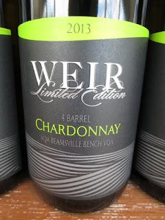 Mike Weir 4 Barrel Chardonnay 2013 - VQA Beamsville Bench, Niagara Peninsula, Ontario, Canada (88+ pts)