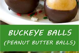 BUCKEYE BALLS (PEANUT BUTTER BALLS)