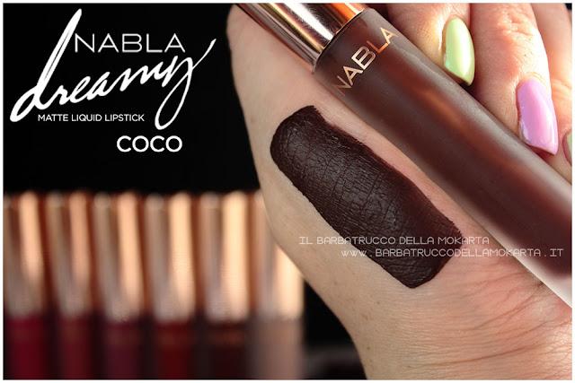 coco Dreamy Matte Liquid Lipstick rossetto liquido nabla cosmetics swatches